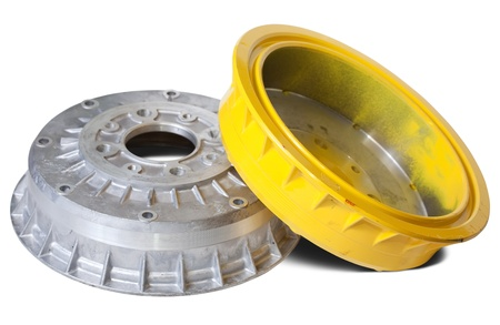 decelerator: auto brake wheels. Isolated on white with clipping path