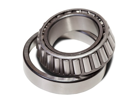taper: conical roller bearing. Isolated on white background  with clipping path Stock Photo