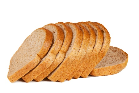 Sliced bread. Isolated on a white background photo
