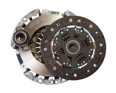 clutch: automotive engine clutch. Isolated on white with clipping path