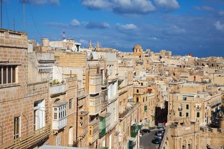 View of Valletta old town streets. Malta Stock Photo - 8497977