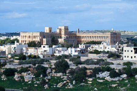 view of  ordinary mediterranean country town. Mtarfa (Malta) Stock Photo - 8508306