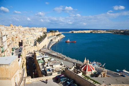 View of Valletta and Grand Harbour. Malta photo