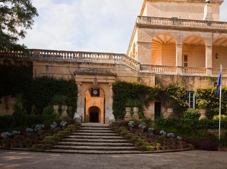 anton: San Anton Palace (residence of president) at Attard. Malta Stock Photo