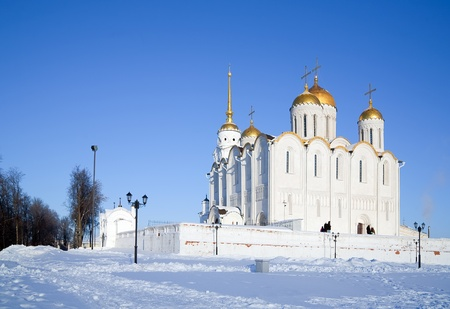 Assumption cathedral in Vladimir Inscribed in the Wold Heritage List of UNESCO, built in 12st century  photo