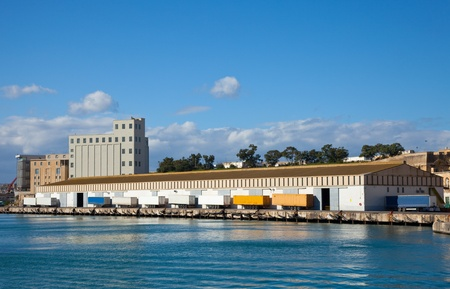 cargo sea port in Grand Harbour (Valleta, Malta) photo