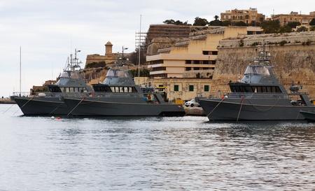 Military boats lying at Marsamxett harbour (Valletta, Malta) Stock Photo - 8594671