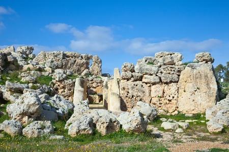 prehistoric Ggantija temples. Gozo (Maltese islands). Built approximately in 3600 B.C. photo