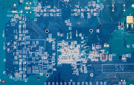 Detail of the front view of circuit board Stock Photo - 8631246
