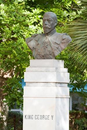 anton: King George V. Garden sculpture at San Anton Garden, Malta