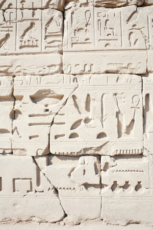 Wall in the Karnak Temple  at Luxor, Egypt  photo