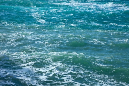 Surface of sea wave during wind at Mediterranean  Stock Photo - 8692335