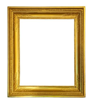 gild: vecchio telaio oro antico.  Archivio Fotografico