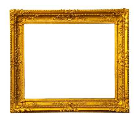 old antique gold frame. photo
