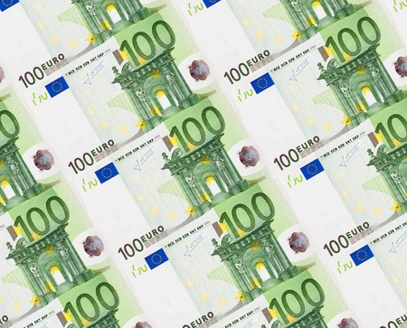 Background of one hundred euro banknotes photo