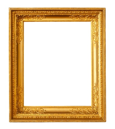 old gilded frame. Isolated over white background with clipping path Stock Photo - 8996184