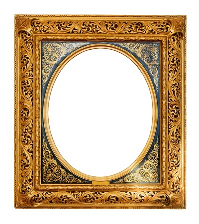 antique furniture: old gold frame Stock Photo