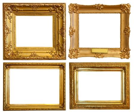 gild: Set di alcuni fotogrammi di lusso dorato