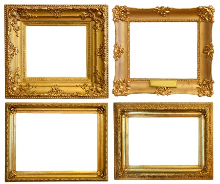 antique frame: Set of few Luxury gilded frames