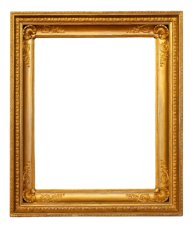 baroque picture frame: gold frame Stock Photo