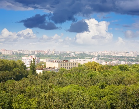 residential settlement: Panoramic view of residential district at Vladimir city. Russia