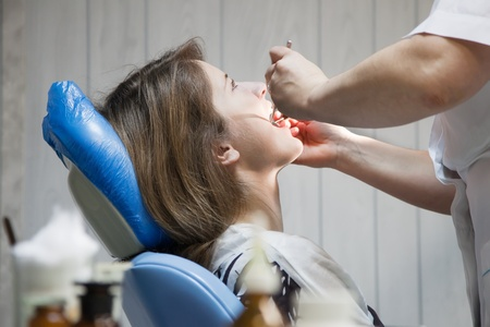 patient during teeth Dental medical treatment photo