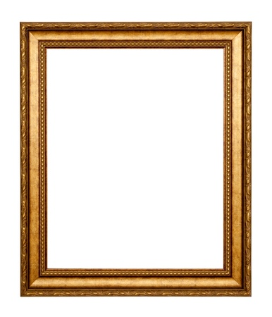 gold frame. Isolated over white background  Stock Photo - 9060951