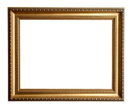 gilt: Luxury gilded frame. Isolated over white background  Stock Photo