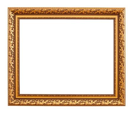 gild: Luxury gold frame. Isolated over white background  Archivio Fotografico