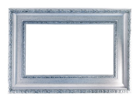 silver frame. Isolated over white background  photo