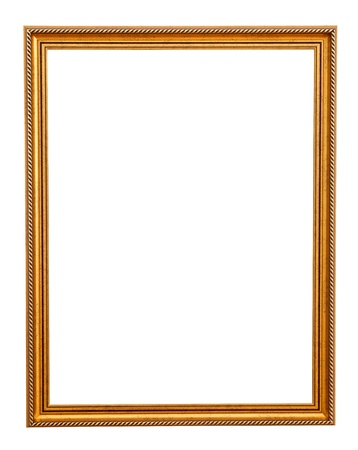 Classic gold frame Stock Photo