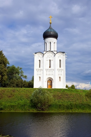 Church of the Intercession on the River Nerl in summer photo