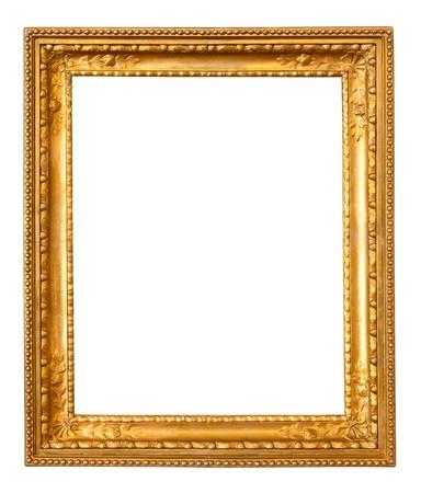 gild: oro vecchio telaio. Isolato su sfondo bianco