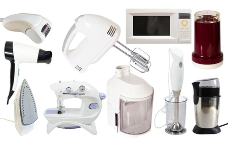 Set of  household appliance. Isolated on white background Stock Photo - 9325235