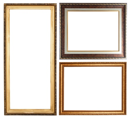 Set of few picture frames. Isolated over white background with clipping path Stock Photo - 9380040