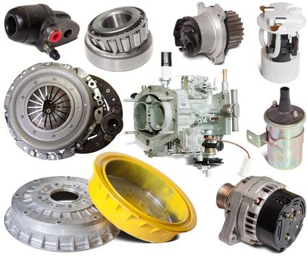 Set of automotive spare parts. Isolated on white background Stock Photo - 9491353