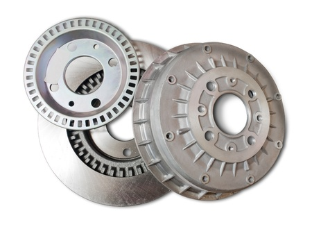 automotive parts. Isolated on white with clipping path photo
