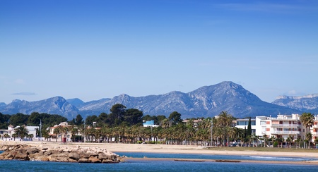 Seaside in Cambrils. Costa Daurada, Spain photo