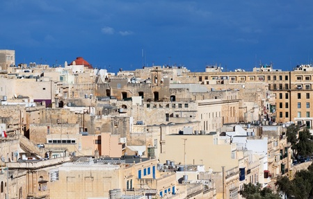 Top view of Valletta old town streets. Malta photo