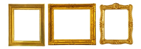 gilded: Set of few gold frame Stock Photo