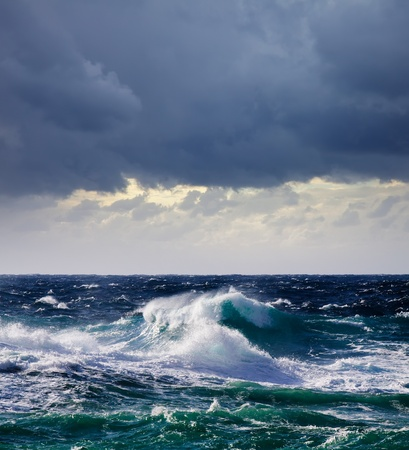 High sea wave during storm at  Mediterranean area Stock Photo - 9547265