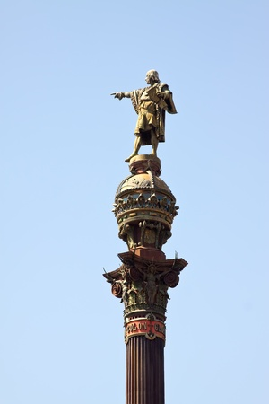 columb: Close up of  Columbus monument in Barcelona. Spain