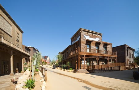 west:  Far west Theme Park near Salou. Catalonia, Spain