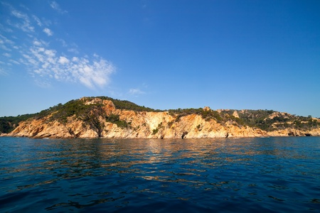 Costa Brava coast landscape in Spain from mediterranean sea photo