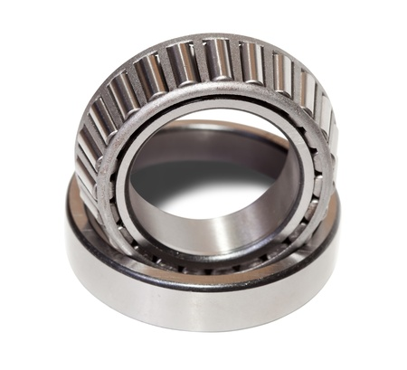 taper: conical roller bearing. Isolated on white background