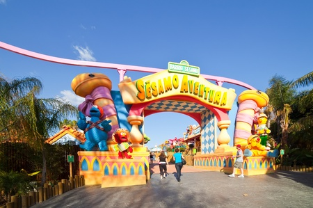 port aventura: PORT AVENTURA, SPAIN - APRIL 11: Port Aventura theme park  in April 11, 2011 in Salou, Spain.  Sesame Street theme for the younger visitors of the park.
