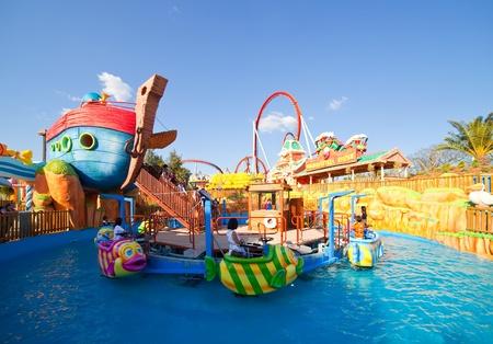 PORT AVENTURA, SPAIN - APRIL 11: Port Aventura theme park  in April 11, 2011 in Salou, Spain.  Sesame Street theme for the younger visitors of the park.