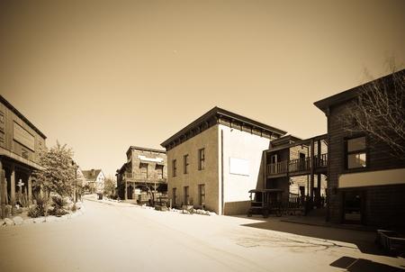 lejos: Fotos retro de la ciudad de lejano oeste