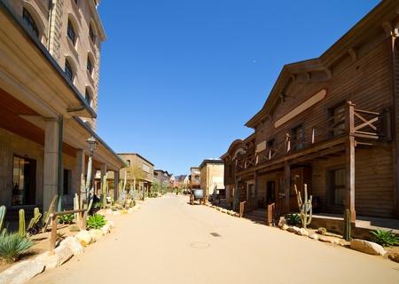old town: Far west Theme Park near Salou. Catalonia, Spain Stock Photo