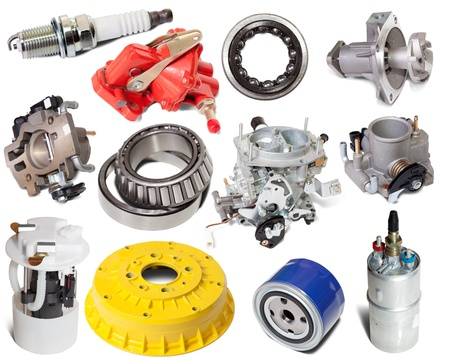 Set of auto parts. Isolated on white background  Stock Photo - 9854540